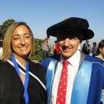 Frieda Coetzee (MA) and Max Price (Vice-Chancellor)