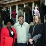 Vanessa Perrot (MA), Rafiki Yohana (PhD), Raj, Yolandi Ribbens-Klein (MA), and Moonde Kabinga (MA)
